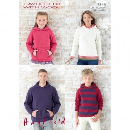 S7256 Hoodies for Men, Women and Children with Hayfielde Double Knitting with Wool