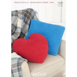 S7339 Cushion Covers in Sirdar Snuggly Snowflake DK