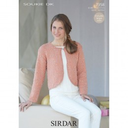 S7358 Bolero for Women in Sirdar Soukie DK
