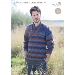 S7482 Sweater for Men Sirdar Sylvan Chunky