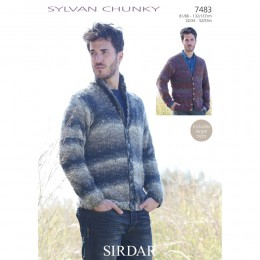 S7483 Cardigans for Men in Sirdar Sylvan Chunky