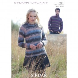 S7484 Sweaters for Men and Women in Sirdar Sylvan Chunky