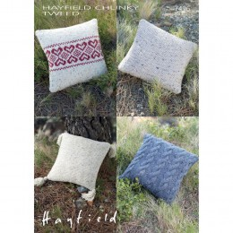 S7496 Cushion Covers in Hayfield Chunky Tweed