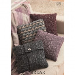 S7506 Cushion Covers in Sirdar Bouffle