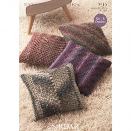S7510 Knitted and Crochet Cushion Covers in Sirdar Sylvan Chunky