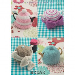 S7515 Tea Cosie's in Sirdar Snuggly Snowflake DK