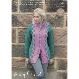 S7519 Coat for Women in Hayfield Chunky Tweed