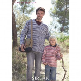 S7705 Sweaters for Men and Boys in Sirdar Crofter DK