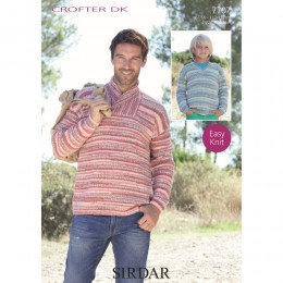 S7707 Sweaters for Men and Boys in Sirdar Crofter DK
