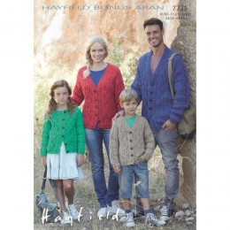S7731 Cardigans for Men, Women and Children in Hayfield Bonus Aran with Wool