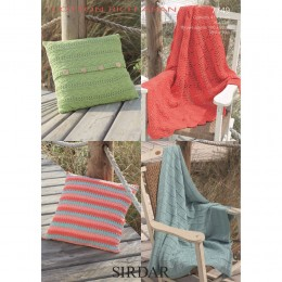 S7749 Throws and Cushion Covers in Sirdar Cotton Rich Aran