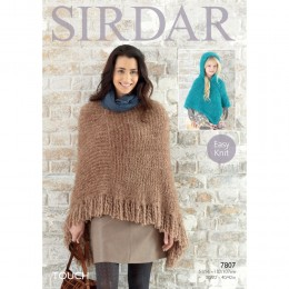 S7807 Poncho for Women and Girls in Sirdar Touch
