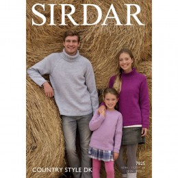 S7825 Sweater for Men, Women and Children in Sirdar Country Style DK