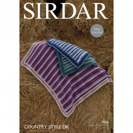 S7826 Crochet Blanket in Sirdar Country Style DK
