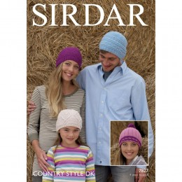 S7827 Hats for Men, Women and Children in Sirdar Country Style DK