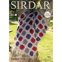 S7833 Crochet Throw in Sirdar Harrap Tweed DK