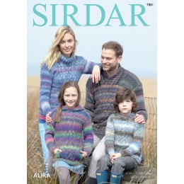 S7881 Jumpers for the entire family in Sirdar Aura