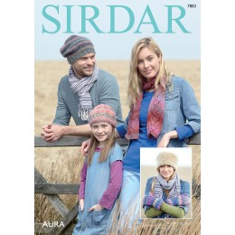 S7883 Hats and Scarves for the entire family Sirdar Aura