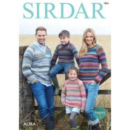 S7884 Jumpers for the entire family in Sirdar Aura