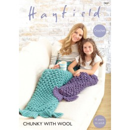 S7907 Mermaid tail for women and children in Hayfield Chunky with Wool