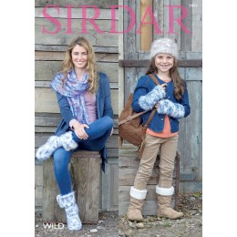 S7971 Accessories for Women and Children in Sirdar Wild