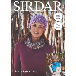 S8161 Hats, Snood & Scarf in Sirdar Tundra Super Chunky