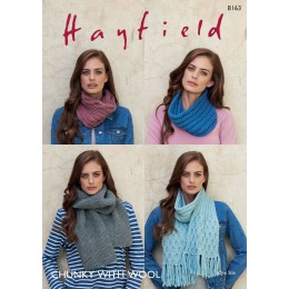 S8163 Snoods and Scarves in Hayfield Chunky with Wool