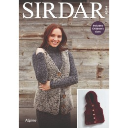 S8204 Women's/Girl's Gilets in Sirdar Alpine