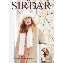 S8238 Gloves, Hat & Scarf in Sirdar No.1 DK & Funky Fur