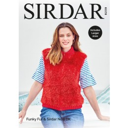S8239 Woman's Zipped Gilet in Sirdar Funky Fur & Sirdar No.1 DK