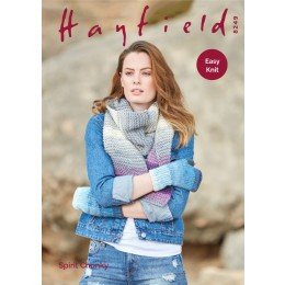 S8249 Woman's Wrist Warmers & Scarf in Hayfield Spirit Chunky