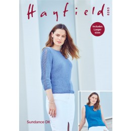 S8263 3/4 Sleeved Sweater & Sleeveless Vest in Hayfield Sundance DK