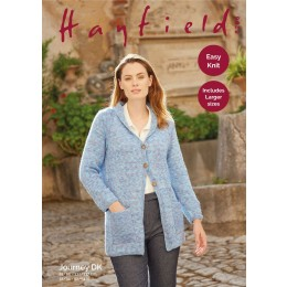 S8266 Woman's Long Line Coat in Hayfield Journey DK