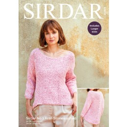 S8269 Woman's Top in Sirdar No.1 Aran Stonewashed