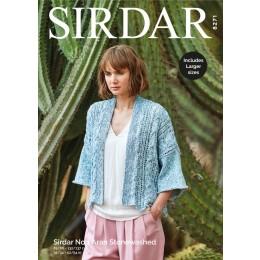 S8271 Kimono in Sirdar No.1 Aran Stonewashed