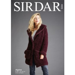 S8282 Teddy Bear Coat in Sirdar Alpine