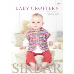 S469 Baby Crofter 8, 15 designs from birth to 7 years in Snuggly Baby Crofter DK