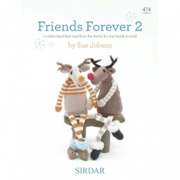 S474 Friends Forever 2 by Sue Jobson, lovable hand knit toys from the Arctic for tiny hands to hold
