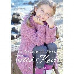 S479 14 Favourite Aran Tweed Knits, 14 Aran cardigan and jacket designs for all the family in Hayfield Bonus Aran Tweed