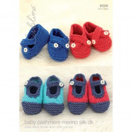 SU6006 Baby Deck Shoes and Pumps Baby Cashmere Merino Silk DK