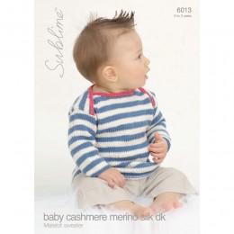 SU6013 Baby Jumper Baby Cashmere Merino Silk DK
