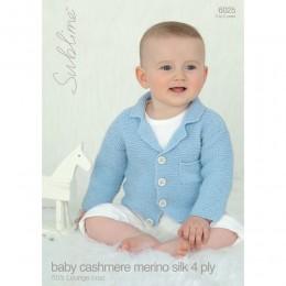 SU6025 Baby Vintage Cardigan Baby Cashmere Merino Silk DK
