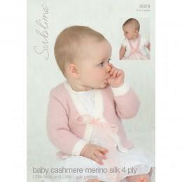 SU6029 Baby Girls Cardigan Baby Cashmere Merino Silk DK