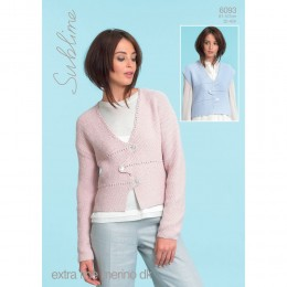 SU6093 Ladies Cardigan and Waistcoat Extra Fine Merino DK