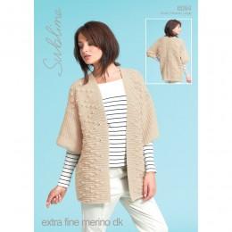 SU6094 Ladies Kimono Jacket Extra Fine Merino DK