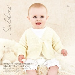 SU677 The Fourth Sublime Baby 4ply Book, 18 designs for babies in Sublime Baby Cashmere Merino Silk 4ply