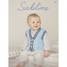 SU693 The Sixth Sublime Baby 4ply Book, 18 designs for babies in Sublime Baby Cashmere Merino Silk 4ply