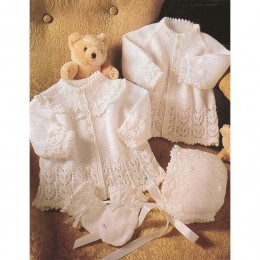 St4110 Baby Cardigan, Bonnet and Mittens Wondersoft 3ply