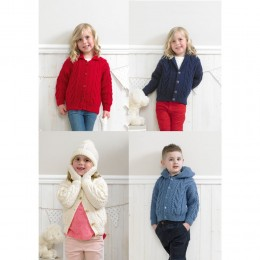 St4174 Children's Jackets, Hat and Mittens Special Aran