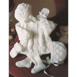 St4187 Baby Cardigan, Bonnet and Mittens Baby DK